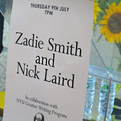 Zadie Smith And Nick Laird - Events - Shakespeare and Company